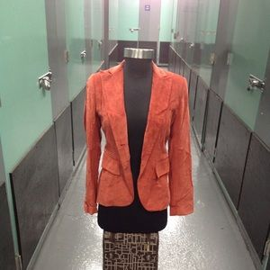 Banana Republic Blazer  Womens SZ 0 Jacket Orange